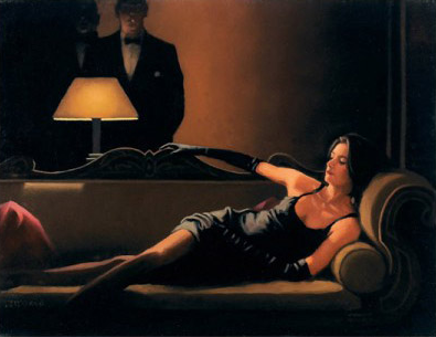Along Came A Spider by Jack Vettriano