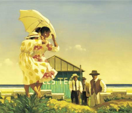 A Very Dangerous Beach by Jack Vettriano