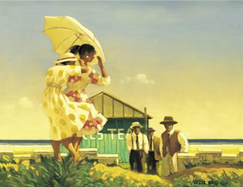 A Very Dangerous Beach by Jack Vettriano