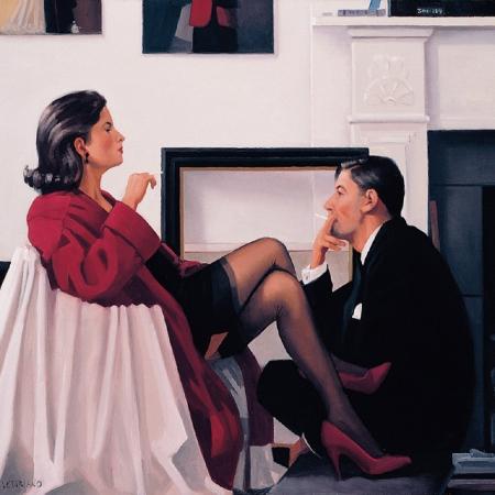 Models In The Studio by Jack Vettriano