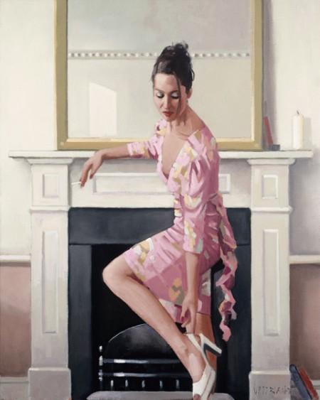 Model In Westwood by Jack Vettriano